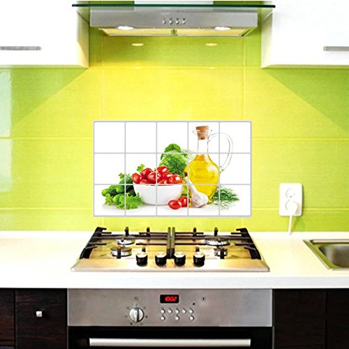 Waterproof Anti-oil Stain lecythus Kitchen decoration Wall Sticker Tile Decal
