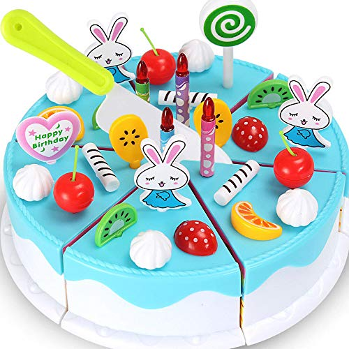 - 1 piece Plastic Simulation Fake Food Fruit Cake Cutting Toy Birthday Gifts for Kids