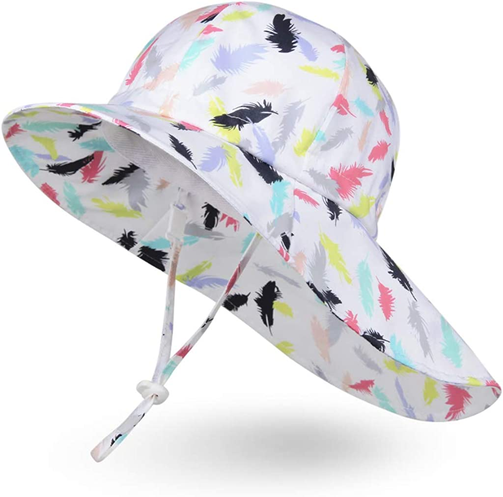 Sun Shade Hat Ami/&Li Baby Kids Summer Flap Cover Cap Cotton Anti-UV UPF 50