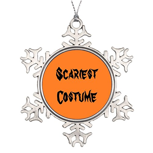 Xmas Trees Decorated Scariest Costume Picture Snowflake Ornament Scariest (Pictures Of The Scariest Halloween Costumes)