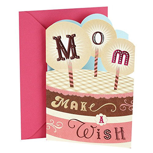 Hallmark Birthday Greeting Card to Mother Cake with Candles