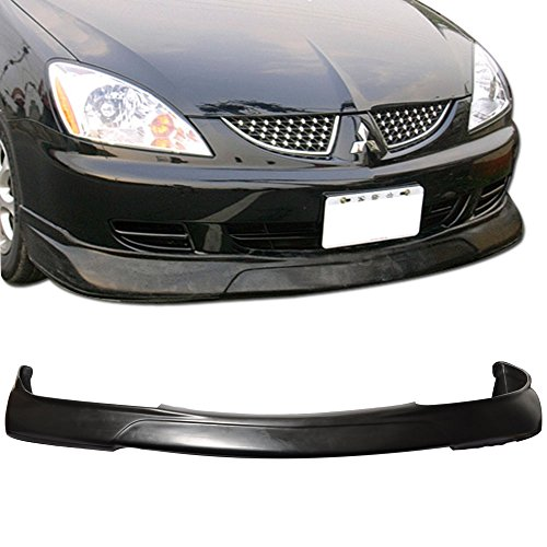 Front Bumper Lip Fits 2004-2007 MITSUBISHI LANCER | Ralli Style PU - Poly Urethane Unpainted Black Guard Protection Finisher Under Chin Spoiler by IKON MOTORSPORTS | 2005 2006