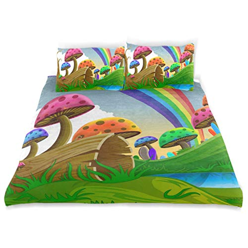OSBLI Bedding Duvet Cover Set 3 Pieces Piano Backgrounds Music Bed Sheets Sets and 2 Pillowcase for Teens