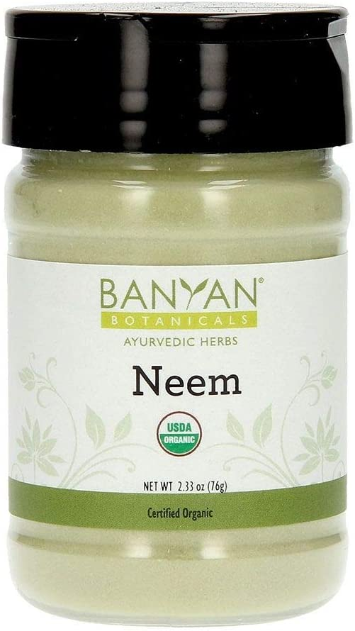 Banyan Botanicals Neem Powder – Organic Neem Leaf Powder – Azadirachta Indica – for Clear Complexion & Healthy Skin, Hair, Blood, Lymph, Liver & More* – Spice Jar – Non-GMO Sustainably Sourced Vegan