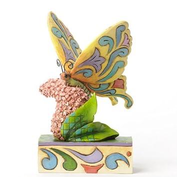 Jim Shore for Enesco Heartwood Creek Butterfly on Flowers Figurine, 5-Inch