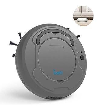 robot aspirador inteligente, leegoal 3 en 1 robot aspirador automático y fregasuelos, USB recargable, para mascotas, moqueta, alfombras