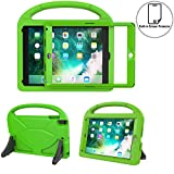 TIRIN Kids Case for New iPad 9.7 2018/2017 with Built in Screen Protector - Light Weight Shock Proof Handle Stand Kids Case for Apple iPad 9.7 Inch(2018/2017)/iPad Pro 9.7/iPad Air 2/iPad Air-Green