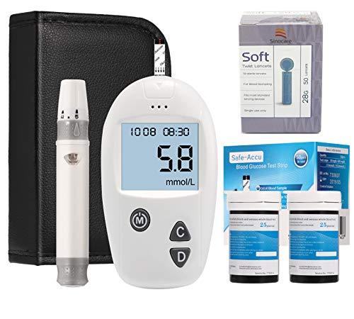 Sinocare Blood Glucose monitoring kit Diabetes test kit blood sugar testing kit Codefree pack 50 strips For UK Diabetics…
