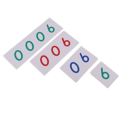MonkeyJack Montessori Mathematics 1-9000 Number Cards Paper for Math Counting Early Learning Toy: Toys & Games