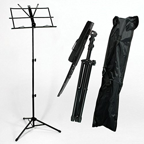 Adjustable Folding Sheet Music Stand Score Holder Mount Tripod Carrying - Student Uk Shops Discount