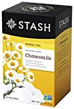 Stash Tea Chamomile Herbal Tea 20 Count (Pack of 6), Premium Herbal Tisane, Sweet Soothing Herbal Tea, Enjoy Chamomile Tea Hot or Iced, Ideal to Drink at Bedtime