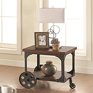 Coaster 701127 Home Furnishings End Table, Rustic Brown
