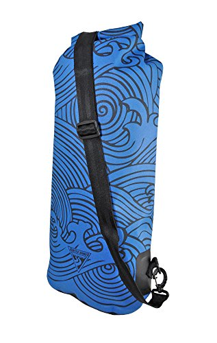 Seattle Sports Built U.S.a. 20 Liter Dry Bag Perfect for Paddling, Camping, Beach, Bike, More!, Blue Wave