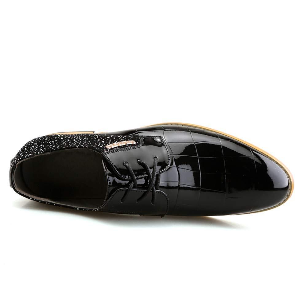 FuweiEncore 2018 Herren Echtleder Oxfords Schnürschuhe (Farbe     Schwarz, Größe   38 EU) (Farbe   Wie Gezeigt, Größe   Einheitsgröße) dc0c75