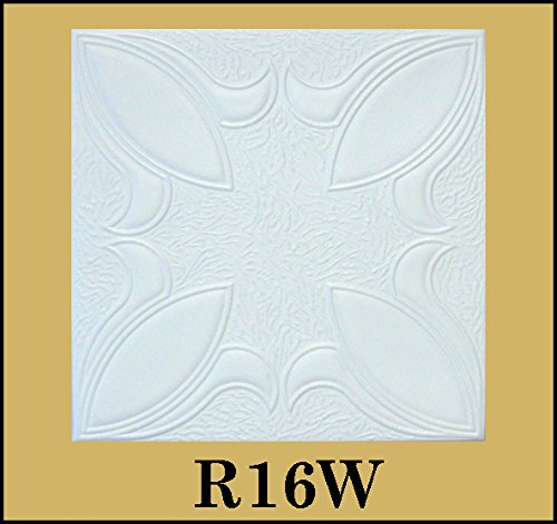 tin-look-glue-up-ceiling-tiles-20x20-styrofoam-extruded-polystyrene-r16w-lot-of-8