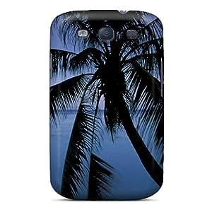 Galaxy High Quality Tpu Case/ Moonlight Over Opunohu Bay Polynesia ZAcglpE623NIFIw Case Cover For Galaxy S3