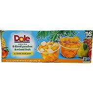 Dole Mixed Fruit Peach (16 Pack-4OZ), 64 Ounce