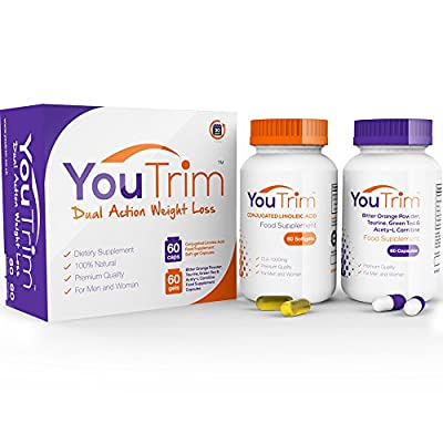 YouTrim DUAL Weight Loss Diet Pills & Fat Burners - LOSE WEIGHT or YOUR MONEY BACK! - 100% Natural Slimming Pills - As Featured In WOMENS FITNESS MAGAZINE