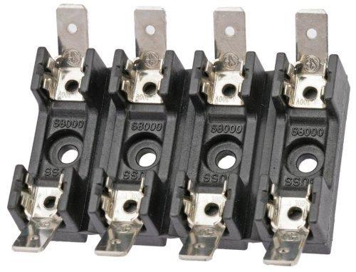 Cooper Bussmann S-8202-4 300 VOLT 20 AMP GLASS FUSE BLOCK-4 POLE