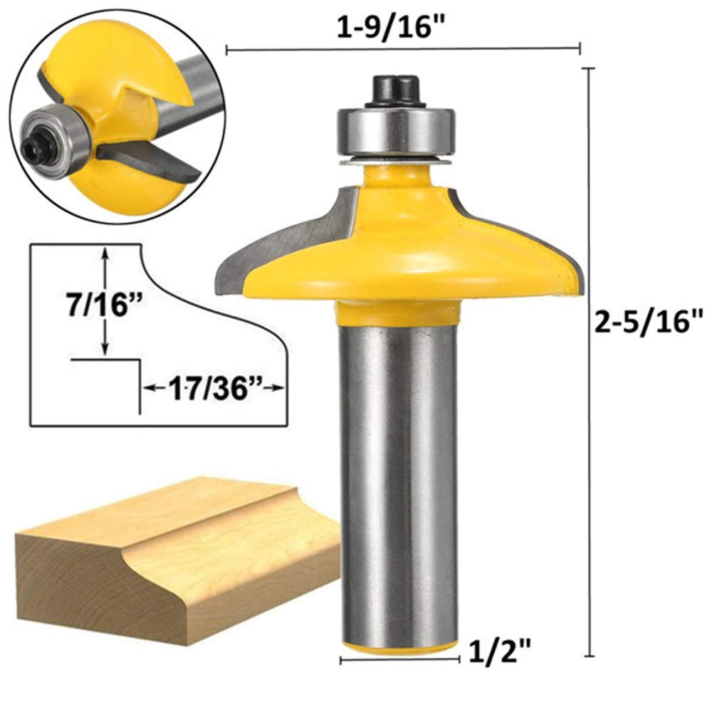 Zebery 1/2 Inch Shank Drawer And Cabinet Door Front Edging Router Bit Med. Ogee Router Bit