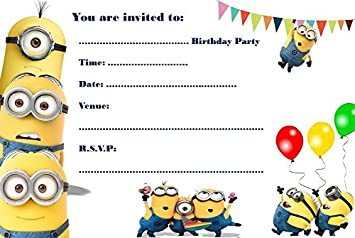Schön Minions A5 Size Party Invitations   20 Per Pack On Glossy Paper