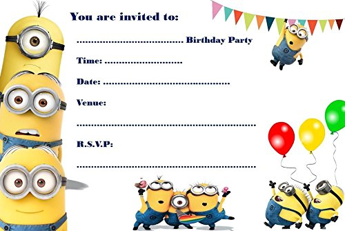 Schön Minions A5 Size Party Invitations   20 Per Pack On Glossy Paper:  Amazon.co.uk: Toys U0026 Games