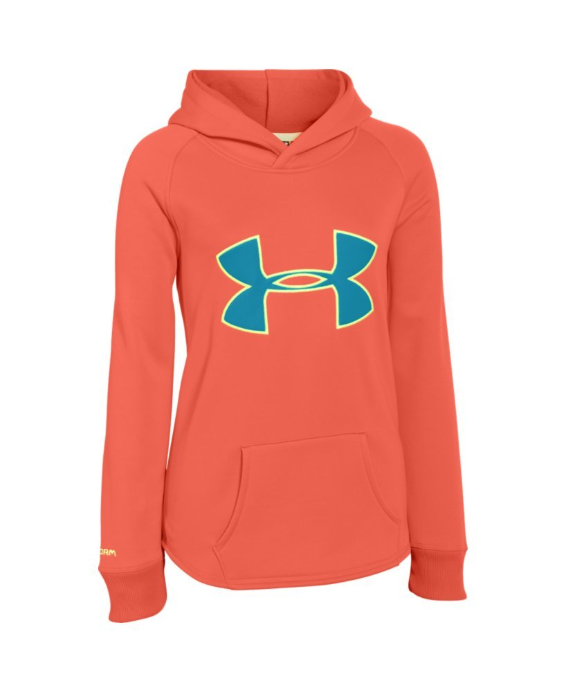 Under Armour Girls' UA Storm Rival Hoodie X-Large / 18-20 Big Kids AFTER BURN