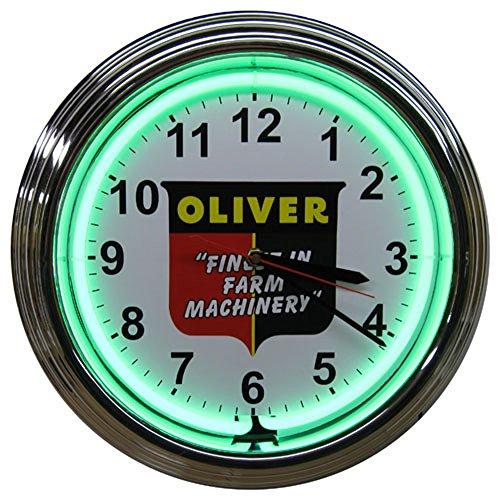 Oliver Tractor Finest in Farm Machery Neon Clock