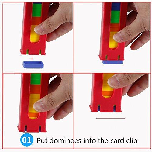 教育玩具子供自動Put Out Dominoes Train子Domino Rally Racing Toy