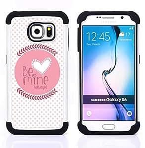 For Samsung Galaxy S6 G9200 - quote love lover girlfriend polka dot Dual Layer caso de Shell HUELGA Impacto pata de cabra con im??genes gr??ficas Steam - Funny Shop -
