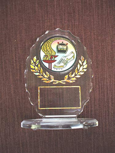 Track Trophy Award Clear Oval Acrylic Torch ()