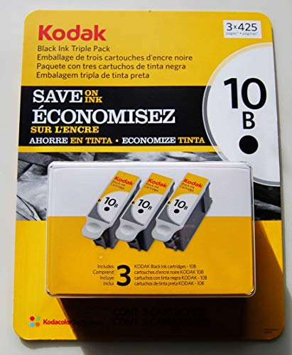 Kodak 10 Series Black Ink Cartridge - 3 Pack (Kodak Ink Printer 5100)