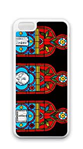 TUTU158600 Plastic Phone Case Back Cover for iphone 5c Shell - Three pillars stained glass window Chestnut Hill United Church Philadelphia Pennsylvania
