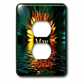 Florene Monthly Anniversary And Birthday Designs - Image of Happy May Birthday As Daisy Sinks In Sunset Water - Light Switch Covers - 2 plug outlet cover (lsp_243786_6)