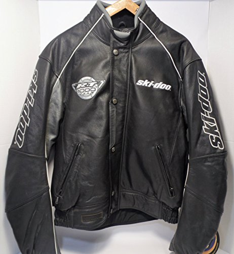 Ski-doo Bombardier Genuine Leather Snowmobile Jacket - RT1000 (Men's Large) Free Shipping