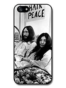 Accessories John Lennon and Yoko Ono Black and White Hair Peace Case For Ipod Touch 5 Cover