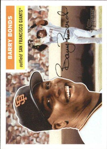2005 Topps Heritage Baseball Card #61 Barry Bonds 2005 Topps Barry Bonds