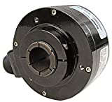 Dynapar HS35R1024H4P7 Heavy-Duty Hollow-Shaft Encoder (Rotary, Optical, Incremental), 1024 PPR, 1'' Bore, 4.5'' C-Face Tether with Cover, 5V-26V Linedriver Extended Temperature, 10-Pin with Mating Connector