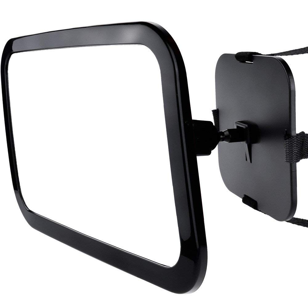 yuquan Baby Car Mirror,Largest and Most Stable Backseat Mirror with Premium Matte Finish, Safety and 360 Degree Adjustability by yuquan