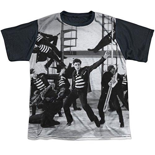 Elvis Presley Jubilant Felons Big Boys Sublimation Shirt White XL