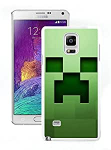 Unique Samsung Galaxy Note 4 Screen Case ,Popular And Durable Designed Case With Minecraft Icon White For Samsung Galaxy Note 4 Phone Case Great Quality Cover Case