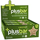 Greens Plus +Plusbar Protein Whey Krisp | Non-GMO & Gluten free | Made with Organic Peanut Butter, Whey Protein Isolate, Chia Seeds & Greens+ Super foods - 12 Nutrition Bars