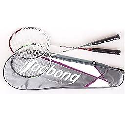 Joobong AMORTEC805 Badminton Racket set (2 rackets + 4 balls)