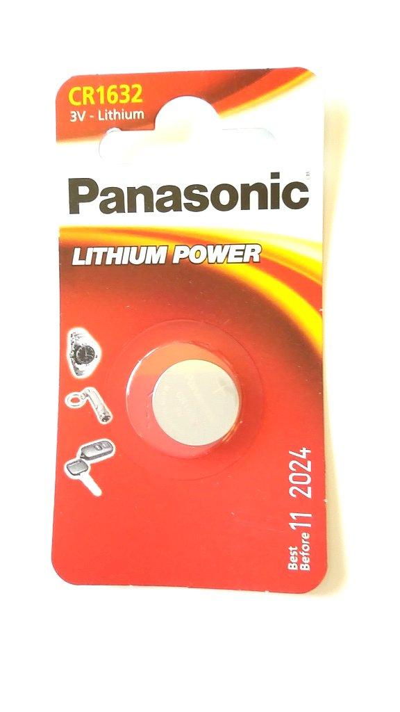 Panasonic CR1632 1632 Lot de 4 piles lithium 3V