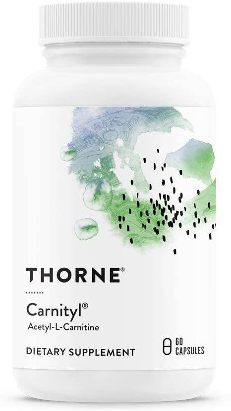 Thorne Research – Carnityl – Acetyl-L-Carnitine ALC for Brain and Nerve Support – 60 Capsules