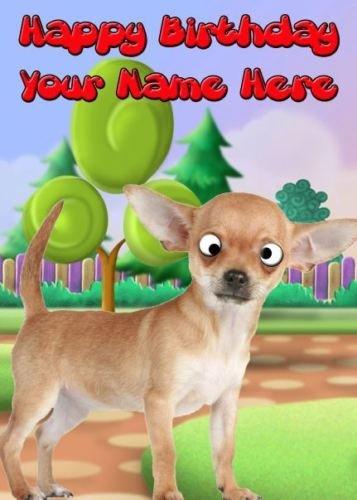 A5 Personalizzato Cane Chihuahua Occhi Strabuzzati Refpide1