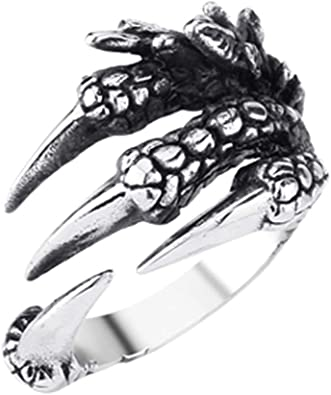 shiYsRL Exquisite Jewelry Ring Love Rings Fashion Unisex Titanium Steel Dragon Claw Open Finger Ring Jewelry Charm Gift Wedding Band Best Gifts for Love with Valentines Day