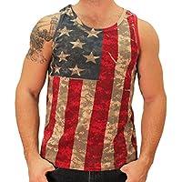 La bandera Camisa para hombre camuflaje digital bandera americana tanque
