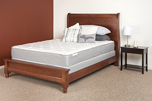 Restonic Cal King Comfort Care Select Amherst Plush Mattress Set with Low Profile Foundation