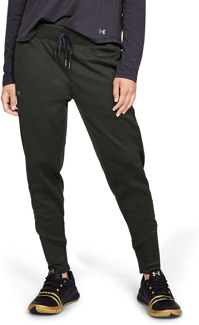 Under Armour Synthetic Fleece Jogger - Pantalones, Mujer: Amazon ...